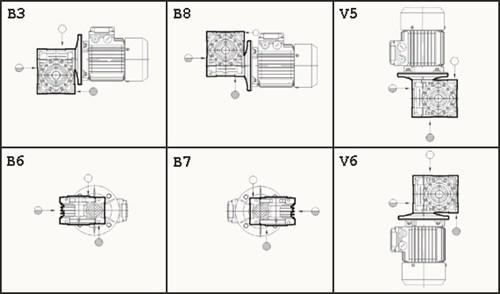 NMRV - монтажные позиции